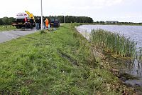 Auto te water in Oostwold
