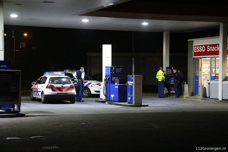Overval op Esso tankstation in Hoogezand (Video)