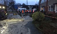 Waterleiding geknapt in Haren