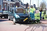 Auto botst in Winschoten (Video)