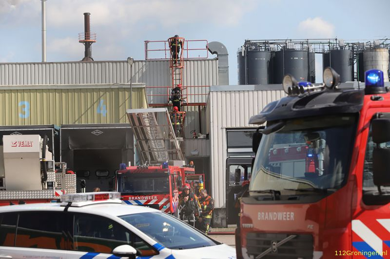 Brand bij Nippon Electric Glass aan de Energieweg in Westerbroek