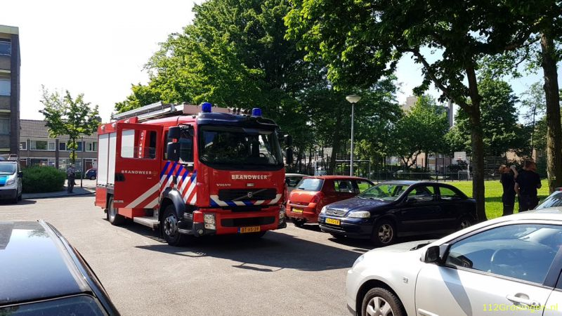 Keuken en meterkast vol water in Stad