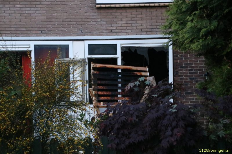 Forse brand Couperusstraat Groningen (Video)
