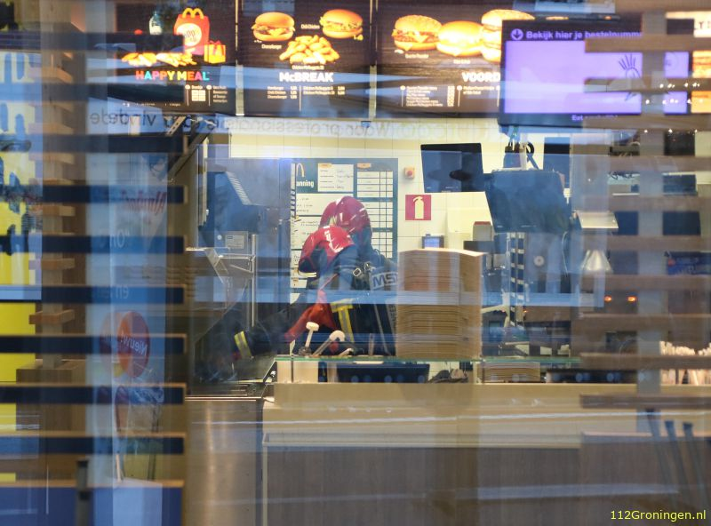 Frituurpan in brand bij Mac Donald`s