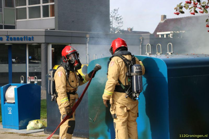 Containerbrand in Hoogezand snel onder controle
