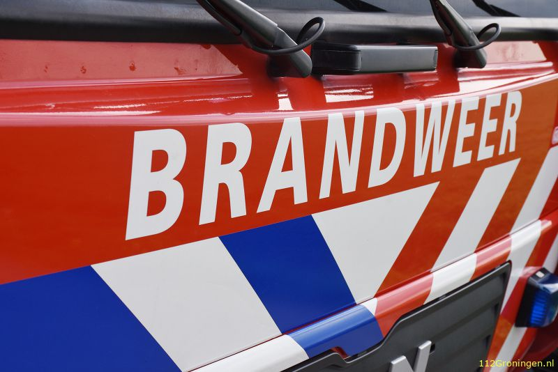 Scheepsbrand in Hoogezand, boot gezonken (Video)