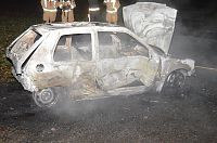 Autobrand in Valthermond