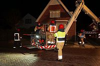 Schoorsteenbrand in Bellingwolde