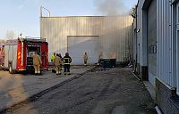 Containerbrand in Sappemeer
