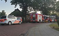 Schoorsteenbrand in Wedde