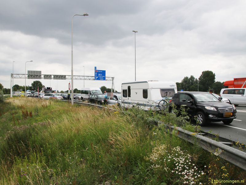 File op A28 na ongeval