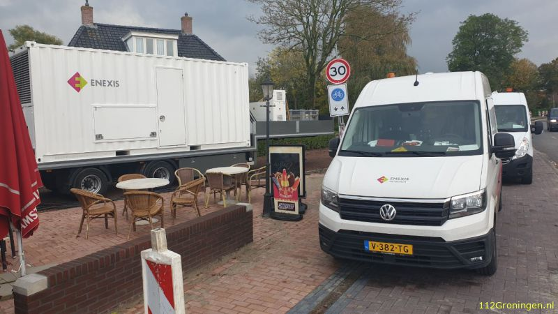 Stroomstoring aan de Havenweg in Baflo & Adorp