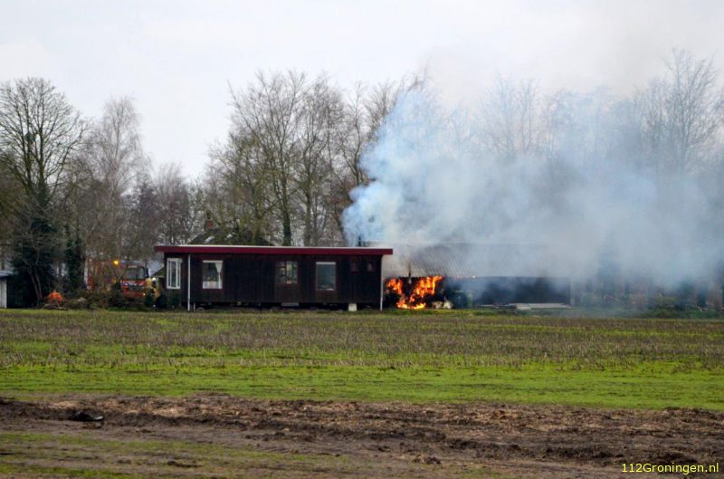 Schuurbrand in Kiel-Windeweer