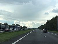Files op A7 door ongevallen