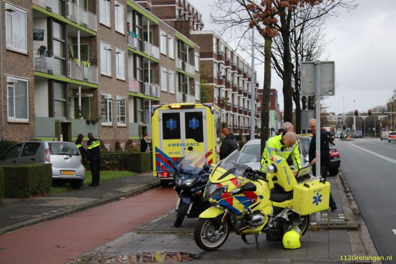 Forse schade na ongeval Paterswoldseweg.
