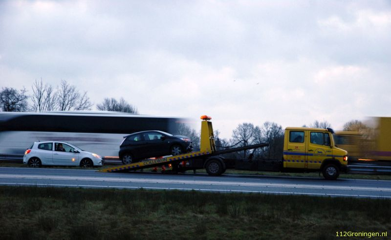 Files door ongevallen op de A7.