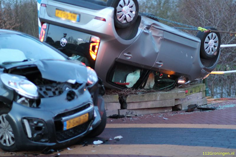 Fors ongeval in Zuidhorn.
