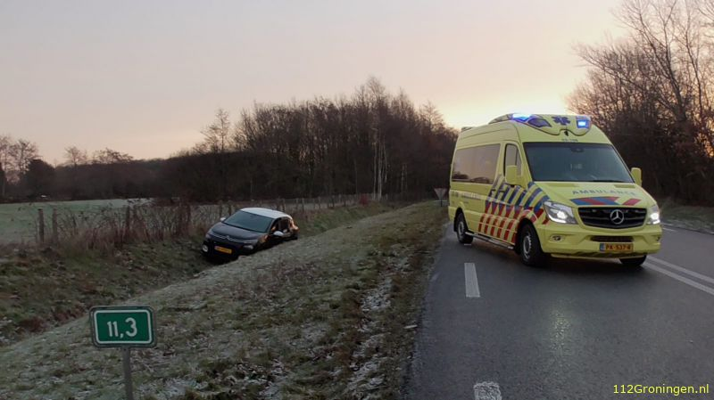 Ongeval letsel in Roden.