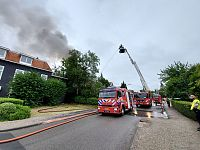 Uitslaande brand Westerse Drift in Haren (2x Video)