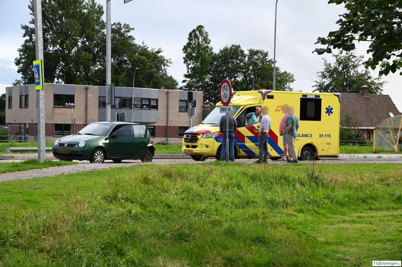 Twee personenautos in botsing na voorrangsfout in Scheemda.