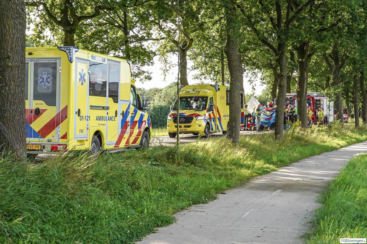 Zwaargewonde bij eenzijdig verkeersongeluk bij Scharmer.