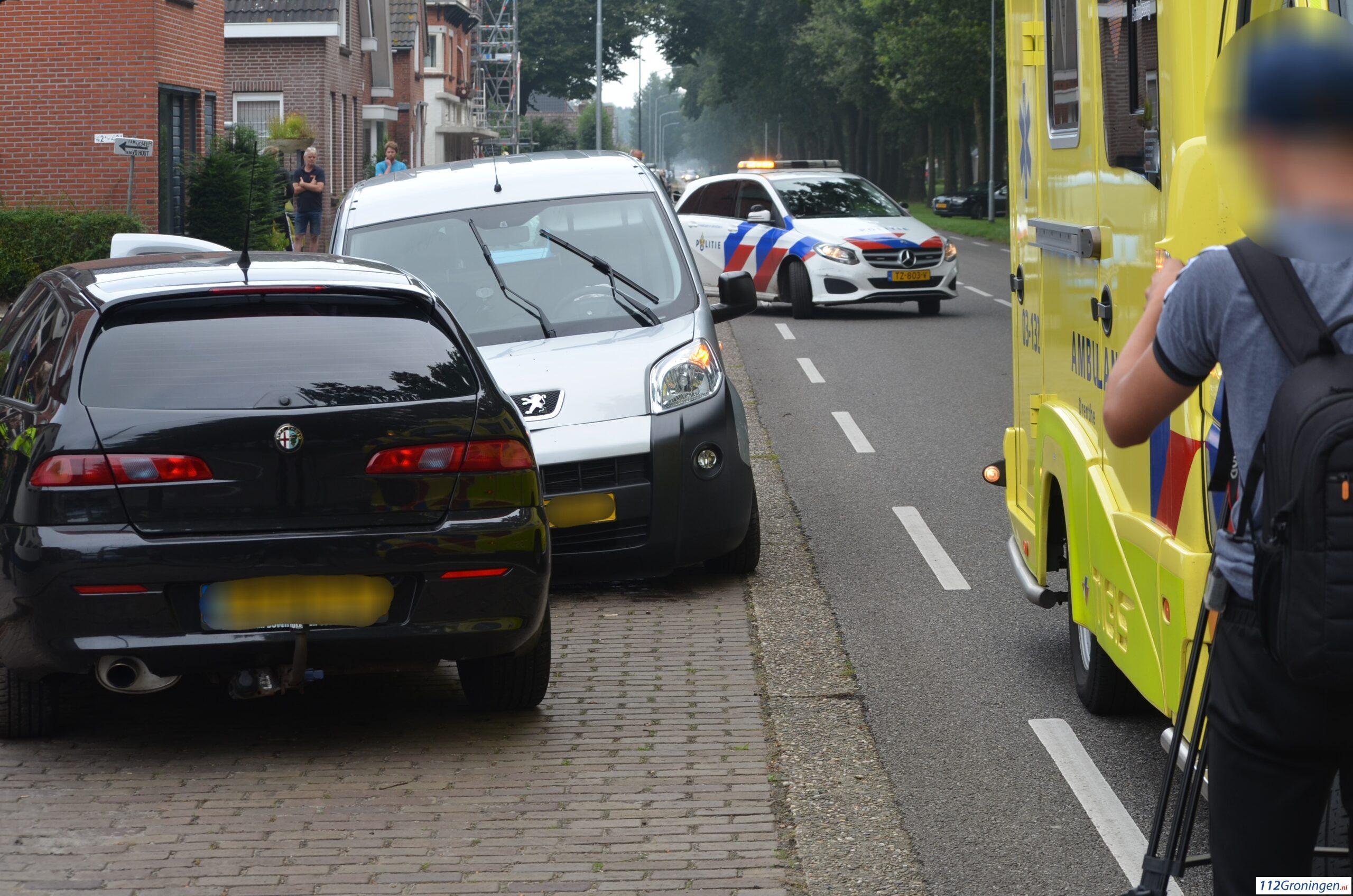 Bestuurder raakt gewond bij botsing in Nieuw-Weerdinge.