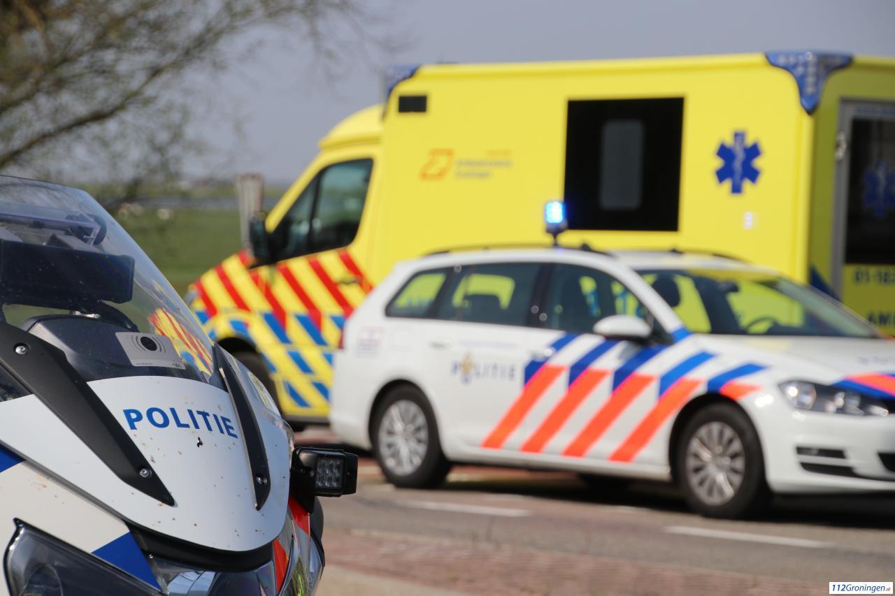 Gewonde bij ongeval op Noorddijkerweg in Groningen.