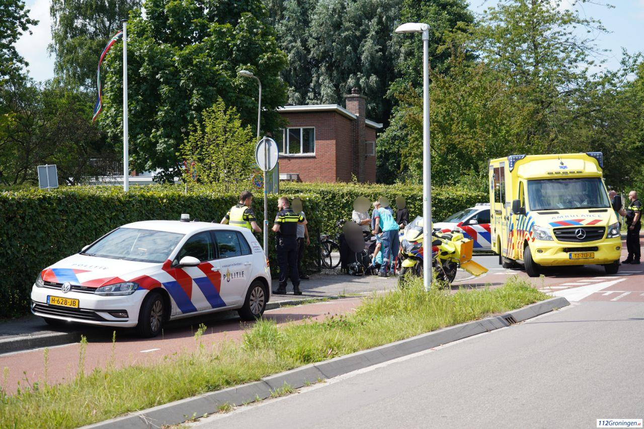 Fietser raakt gewond bij verkeersongeval in Haren.