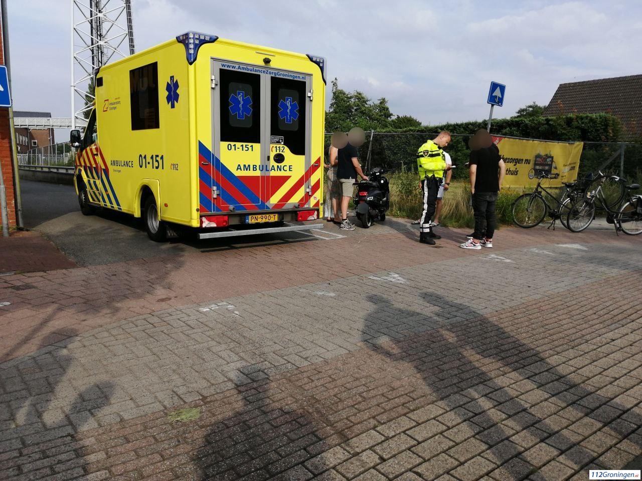 Scooterrijder aangereden door automobilist in Stadskanaal.