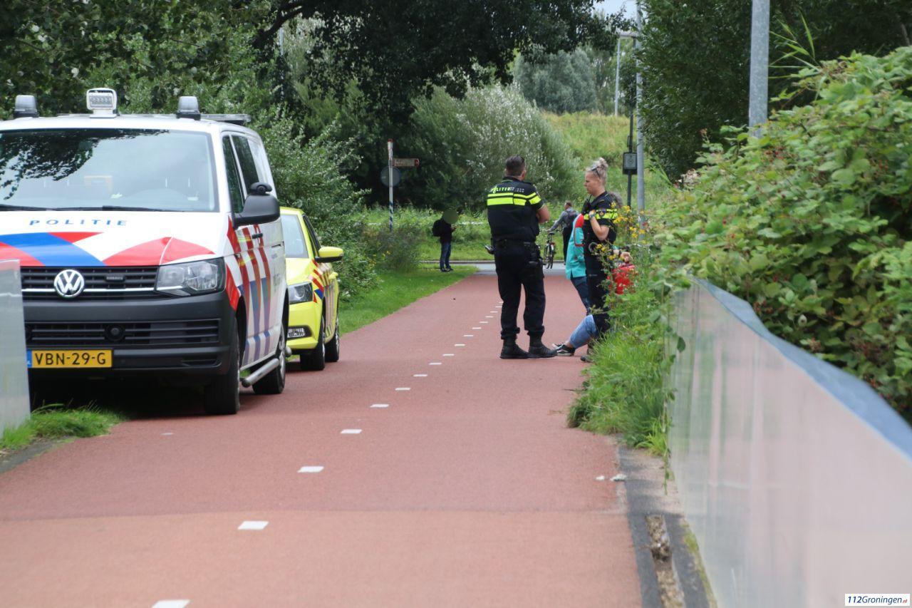 Fietsster gewond bij verkeersongeluk Hooglandsterpad.