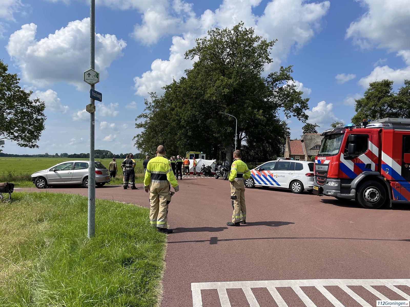 Motorrijder ernstig gewond na aanrijding in Lucaswolde.
