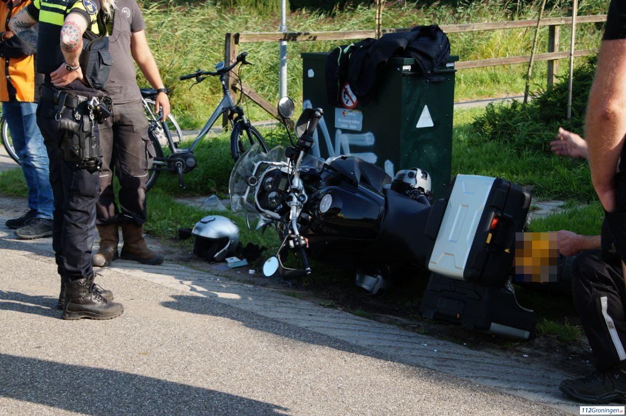 fietsster raakt gewond bij ongeval Ellerhuizen Bedum.