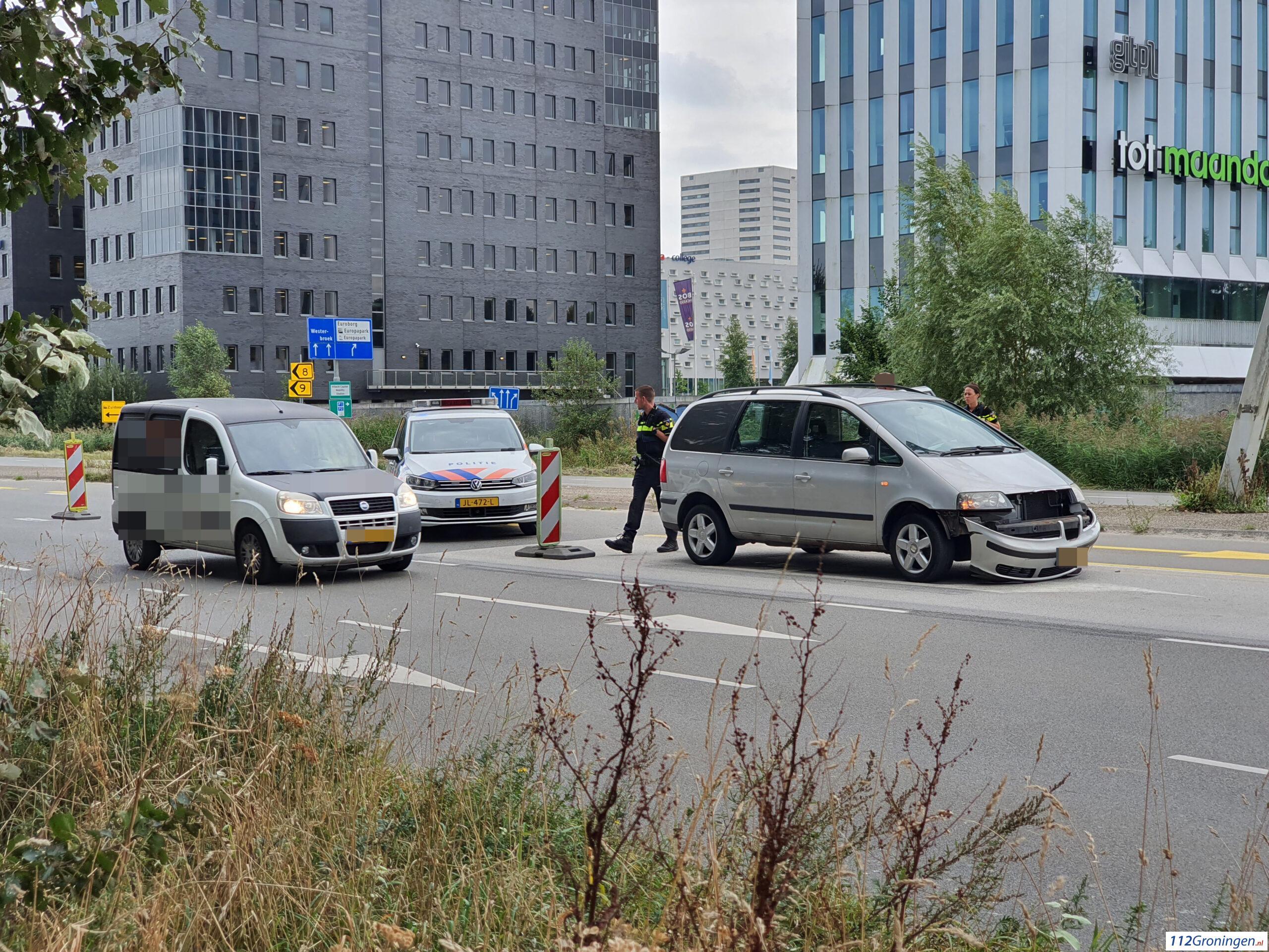 Kop/staart aanrijding Europaweg Groningen.