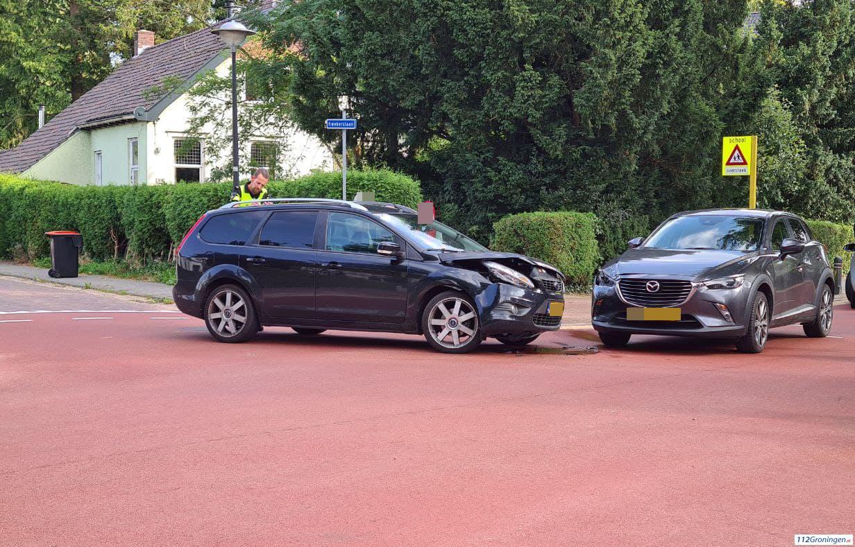 Ongeval Parklaan Scheemda, 1 lichtgewonde.