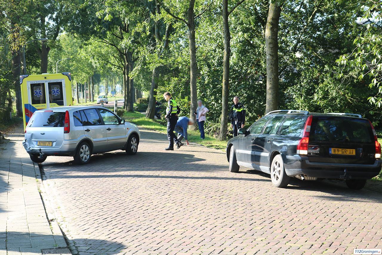 Materiële schade bij kop-staart aanrijding in Noordhorn.