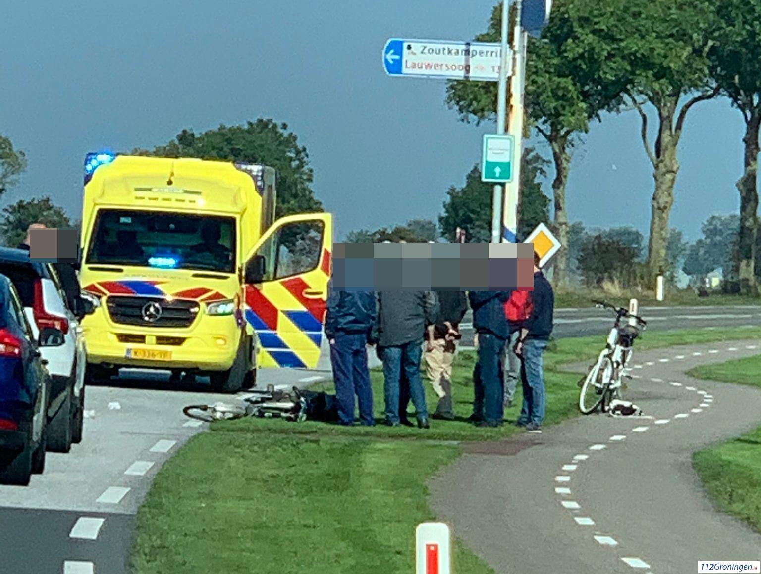 Zoutkamp: Fietser aangereden door automobilist.