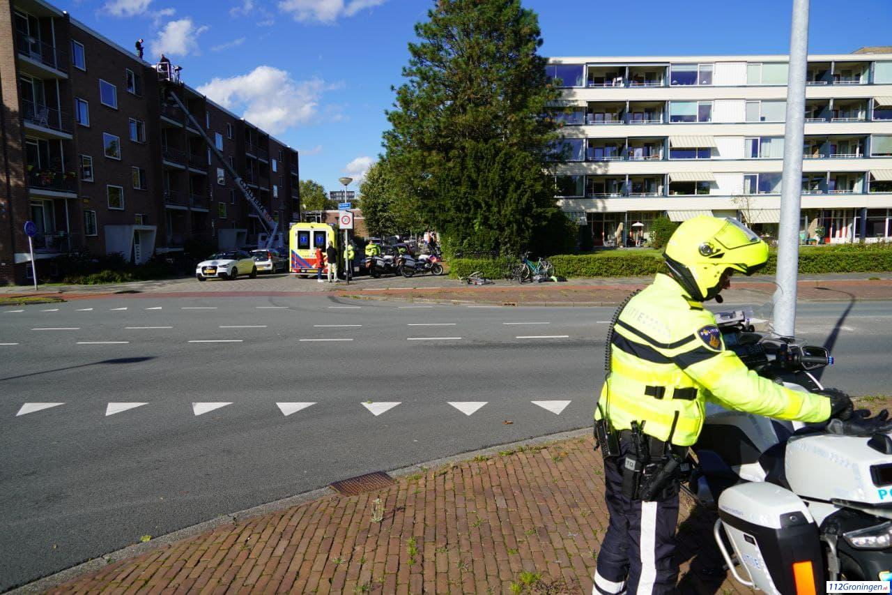 Gewonde bij aanrijding tussen auto en fietser.